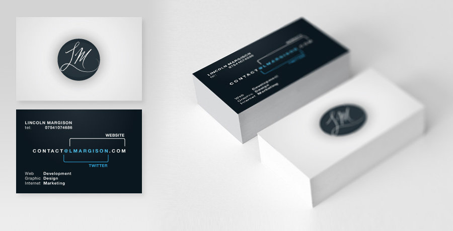 Graphic design lincoln margison lmargison business card design reheart Image collections
